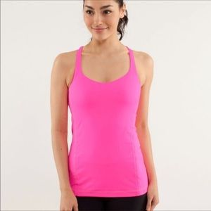 Lululemon Free To Be Tank Hot Pink Too Sz 2
